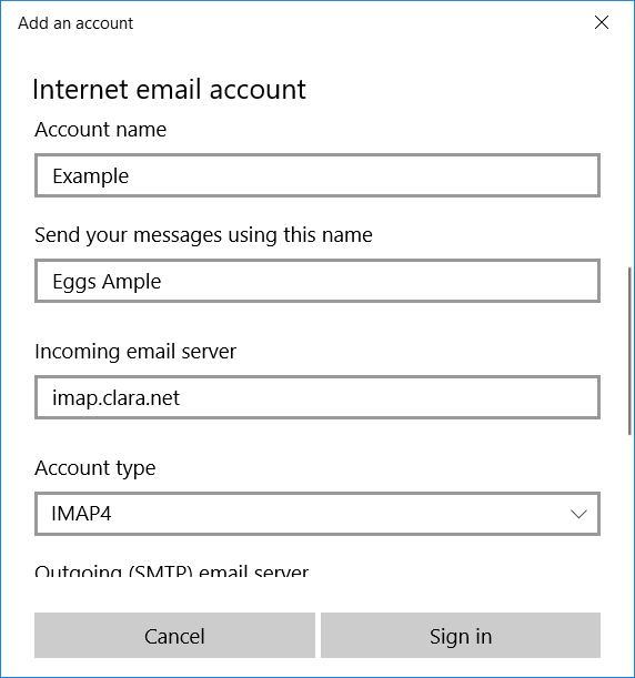 net virtue how to set up email account