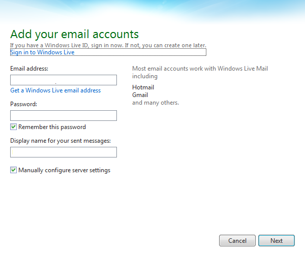 How Do I Set Up My Email On Windows Live Mail